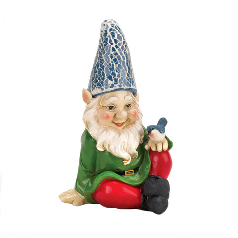 Summerfield Terrace Cheery Gnome Solar Statue - 10016215