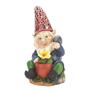 Summerfield Terrace Gardening Gnome Solar Statue - 10016216