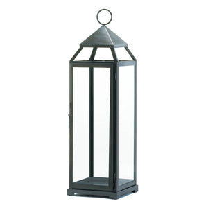 Gallery of Light Brushed Silver Extra Tall Lantern - 10016912