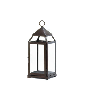 Gallery of Light Large Bronze Contemporary Lantern - 10016943