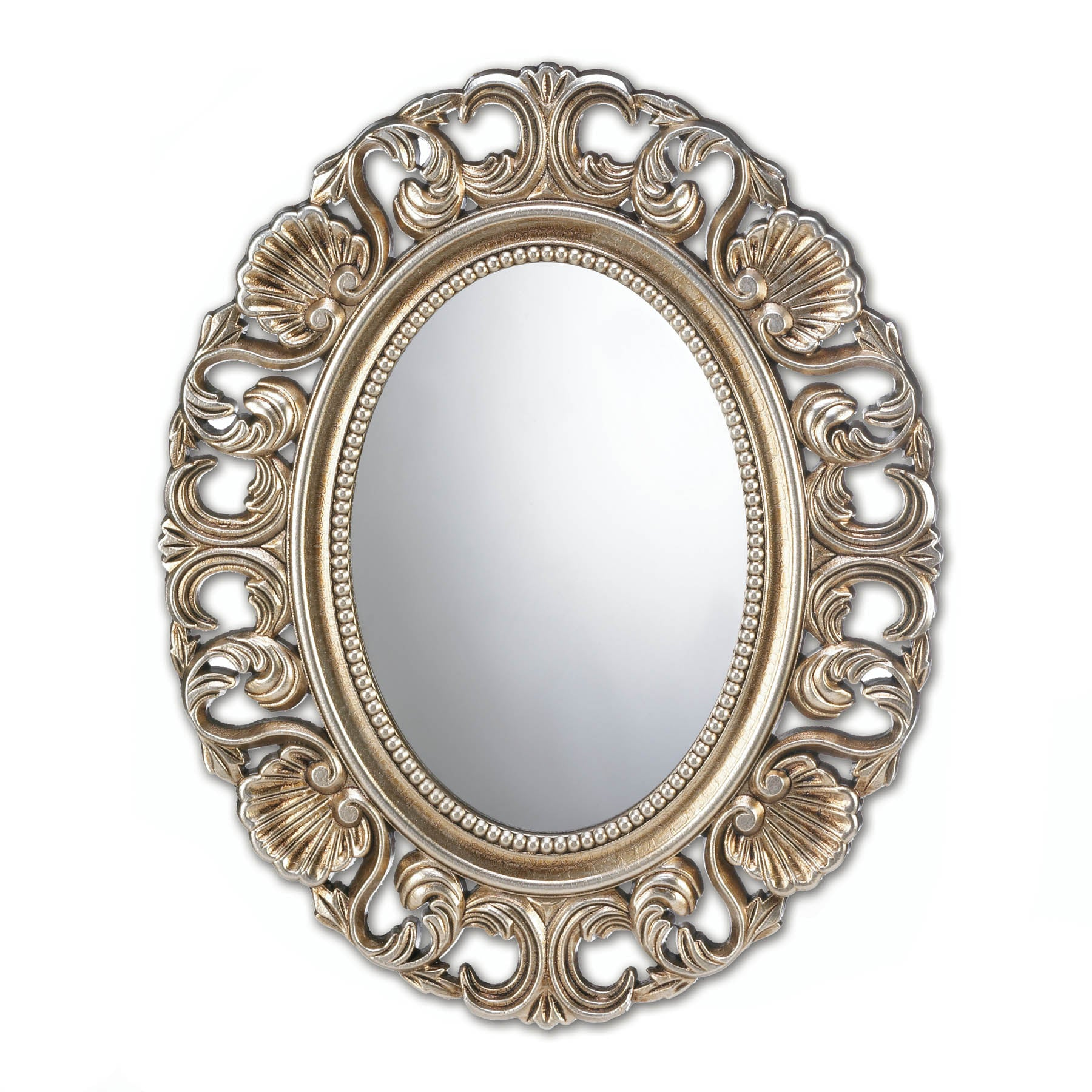 Accent Plus Gilded Oval Wall Mirror - 10017055