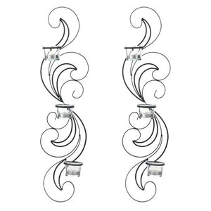 Gallery of Light Wisp Candle Sconce Set - 10017178