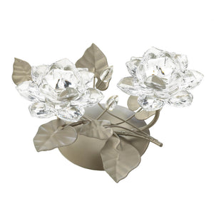 Gallery of Light Crystal Flower Centerpiece Candleholder - 10017424