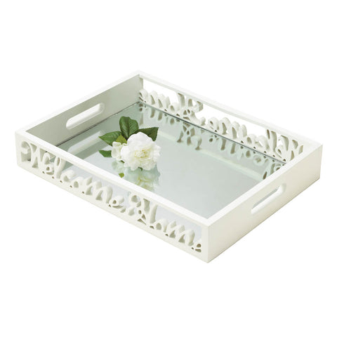 Accent Plus Welcome Home Mirror Tray - 10017440
