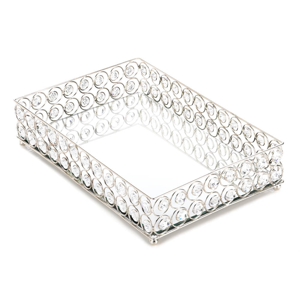 Accent Plus Shimmer Rectangular Jeweled Tray - 10017443