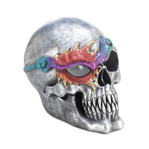 Dragon Crest Fantasy Skull Figurine With LED Light - 10017519