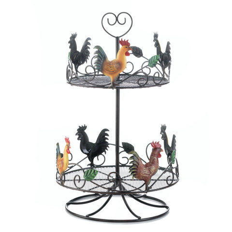 Accent Plus Rooster 2 Tier Countertop Rack - 10017558