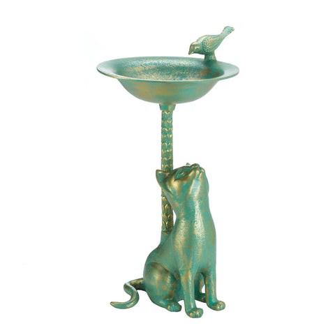 Songbird Valley Cat Birdbath - 10017613