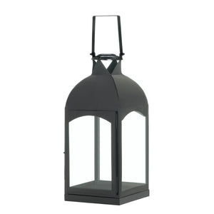 Gallery of Light Large Domed Black Candle Lantern - 10017656