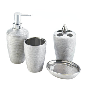 Accent Plus Silver Shimmer Bath Accessory Set - 10017710