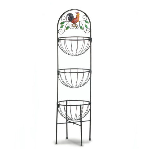 Accent Plus Rooster 3-Tier Kitchen Basket - 10017861