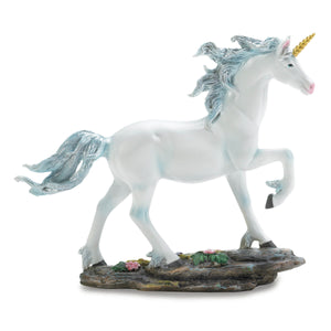 Dragon Crest White Unicorn Figurine - 10017949