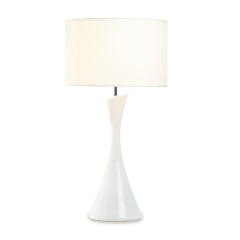 Gallery of Light Sleek Modern White Table Lamp - 10018022