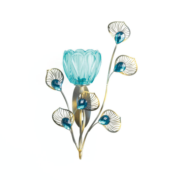 Gallery of Light Peacock Blossom Single Sconce - 10018048