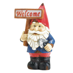 Summerfield Terrace Welcome Gnome Solar Statue - 10018056
