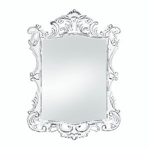 Accent Plus Regal White Distressed Wall Mirror - 10018067