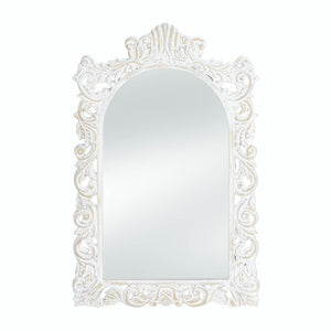 Accent Plus Grand Distressed White Wall Mirror - 10018068