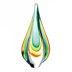 Accent Plus Art Glass Water Drop Statue - 10018104