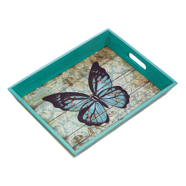 Accent Plus Blue Butterfly Serving Tray - 10018168