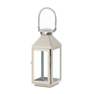Gallery of Light Small Manhattan Stainless Steel Lantern - 10018173