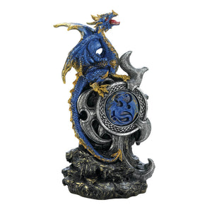 Dragon Crest Blue Dragon With Light Up Medallion - 10018261