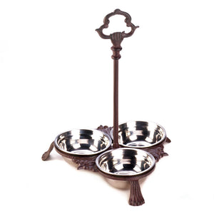 Accent Plus Cast Iron Pet Bowls With Handle - 10018284
