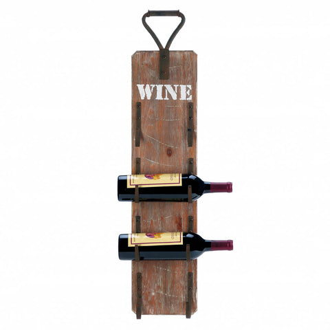 Accent Plus Wine Bottle Wall Rack With Metal Handle - 10018299