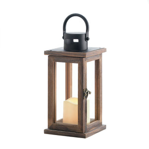 Gallery of Light Lodge Wooden Lantern With LED Candle - 10018312