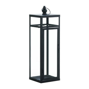 Gallery of Light Large Black Dramatic Geometry Lantern - 10018344