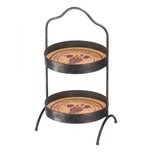 Accent Plus Vineyard 2-Tier Standing Tray - 10018370