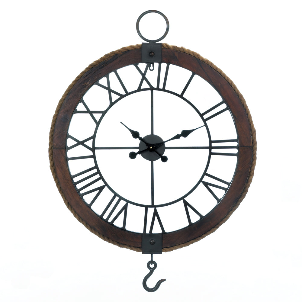 Accent Plus Industrial Round Wall Clock - 10018372