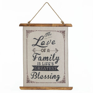 Accent Plus Family Love Linen Wall Art - 10018388