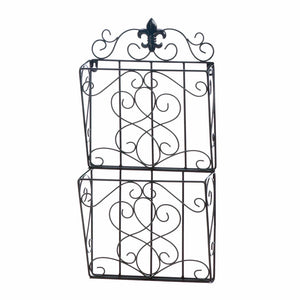 Accent Plus Fleur-De-Lis Dual Magazine Wall Rack - 10018404