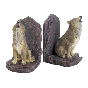 Accent Plus Howling Wolf Bookends - 10018439