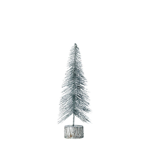 Christmas Collection Small Silver Glitter Tree - 10018480