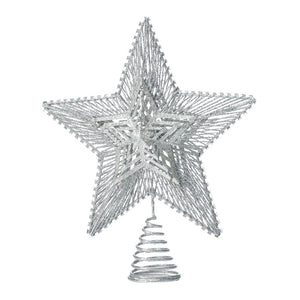 Christmas Collection Silver Star Tree Topper - 10018483