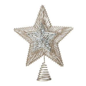 Christmas Collection Gold And Silver Star Tree Topper - 10018484