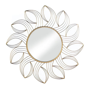 Accent Plus Golden Petals Wall Mirror - 10018490