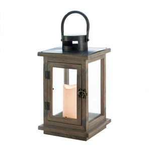 Gallery of Light Rustic Lantern With LED Candle - 10018494