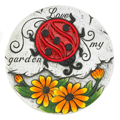Summerfield Terrace Sunflower Lady Bug Garden Stepping Stone - 10018532