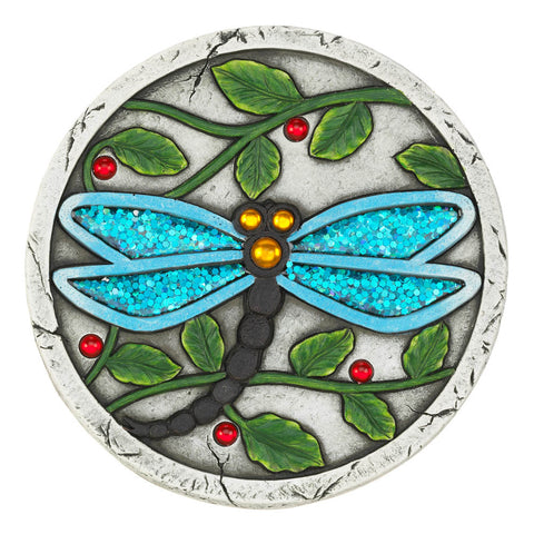 Summerfield Terrace Blue Dragonfly Garden Stepping Stone - 10018534