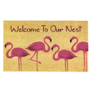 Summerfield Terrace Flamingo Family Welcome Mat - 10018557