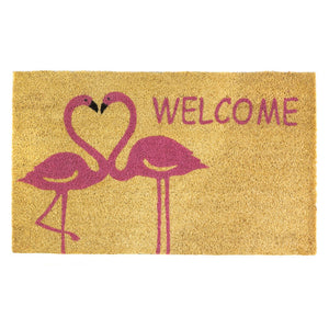 Summerfield Terrace Flamingo Love Welcome Mat - 10018558