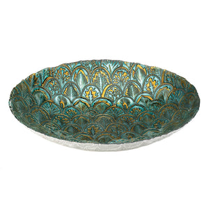 Accent Plus Abstract Peacock Decorative Plate - 10018588