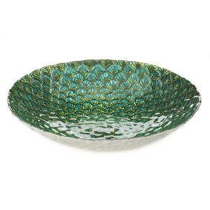 Accent Plus Peacock Feather Inspired Plate - 10018589