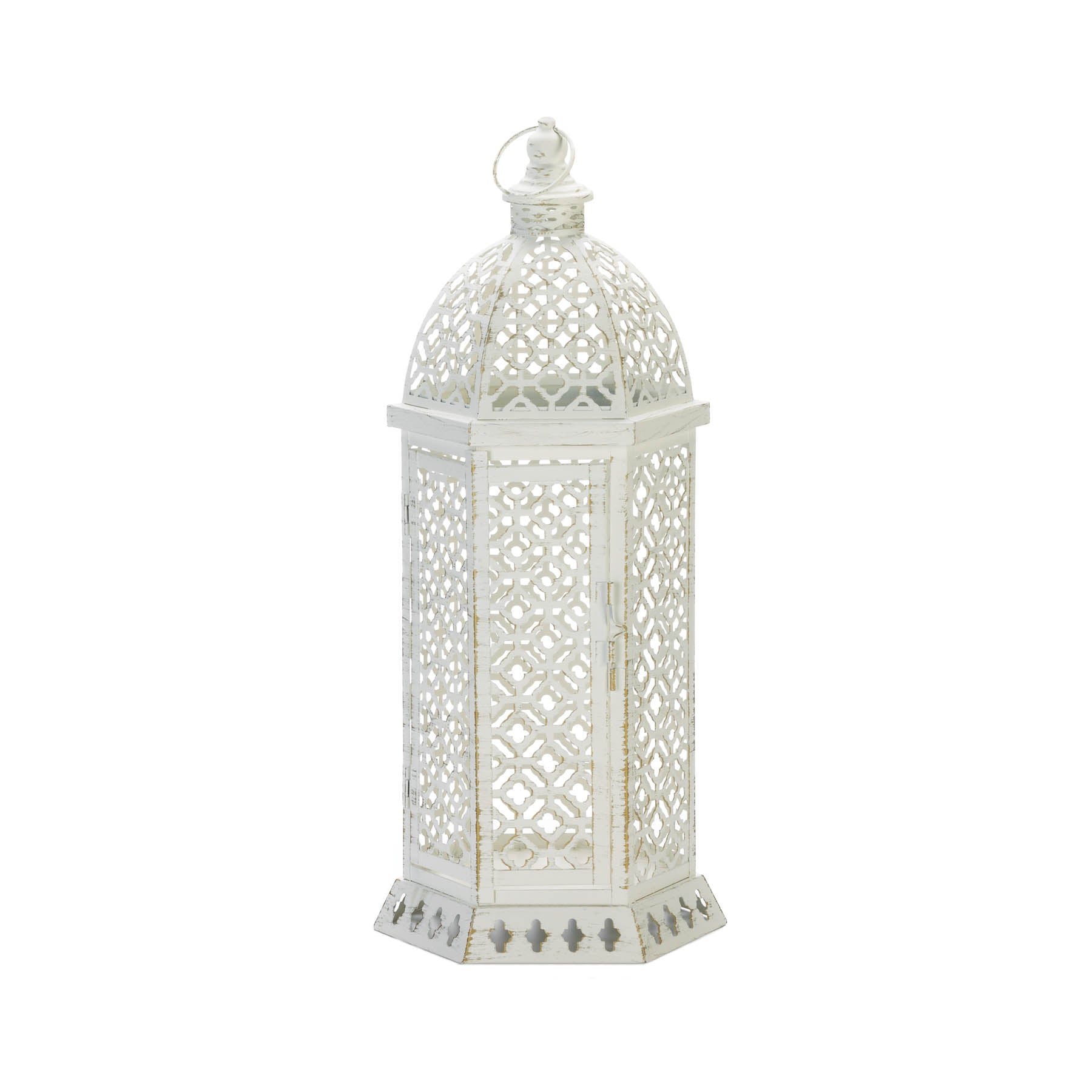 Gallery of Light Large Cutwork Hexagon Lantern - 10018609
