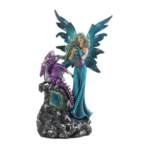 Dragon Crest Gothic Fairy And Dragon Figurine - 10018626