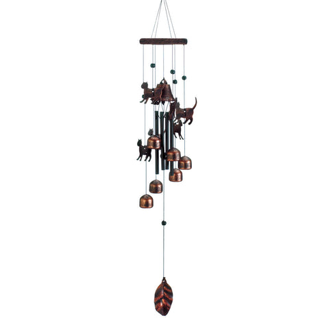 "Summerfield Terrace 26"" Bronze Cats Wind Chimes - 10018630"