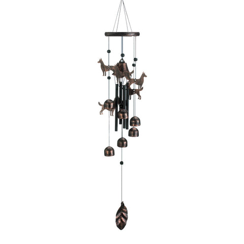 "Summerfield Terrace 26"" Bronze Dogs Wind Chimes - 10018631"