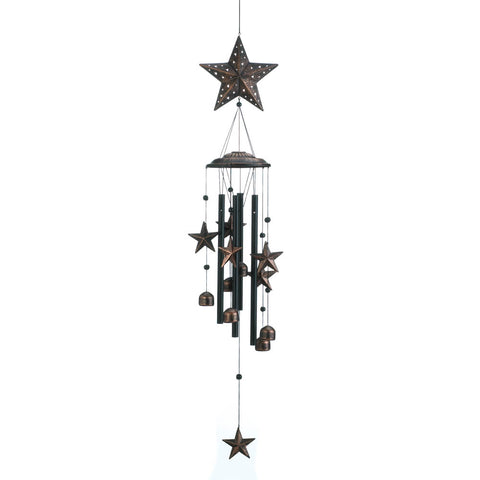 "Summerfield Terrace 34"" Bronze Stars Wind Chimes - 10018632"